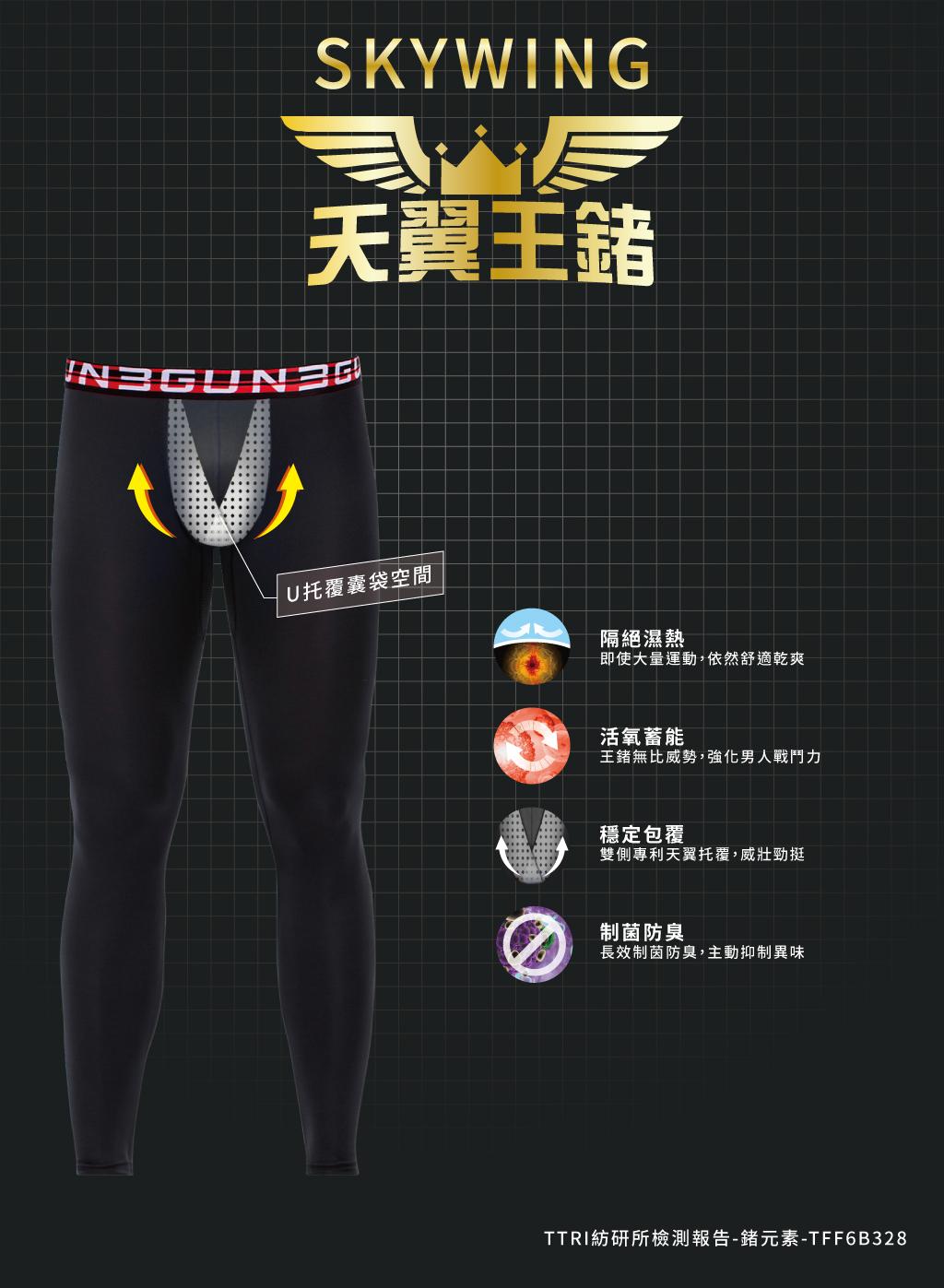 制菌網眼男SUPIMA棉平口褲-天翼.王鍺-3GUN |男性時尚內衣褲MIT品牌