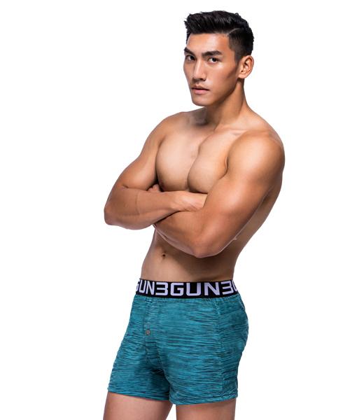 輕量快乾男寬鬆四角平口褲-都會布褲-3GUN |男性時尚內衣褲MIT品牌