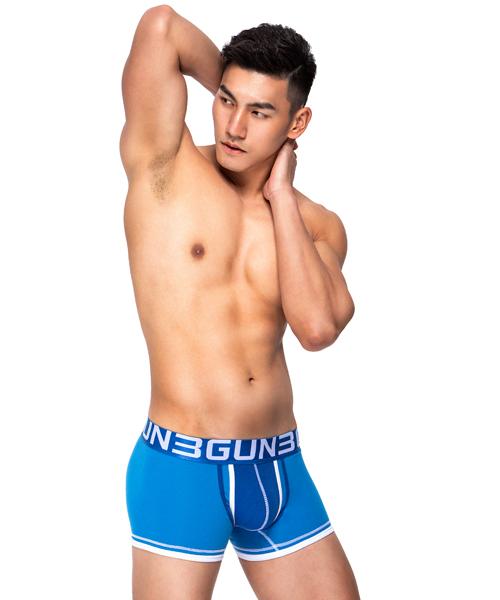 爬線聚焦男彈力棉平口褲-炫色動感-3GUN |男性時尚內衣褲MIT品牌