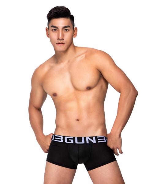 超透氣男快乾網眼平口褲-吸排-3GUN |男性時尚內衣褲MIT品牌
