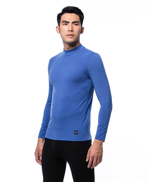 男半高領發熱長袖-熾柔-3GUN |男性時尚內衣褲MIT品牌