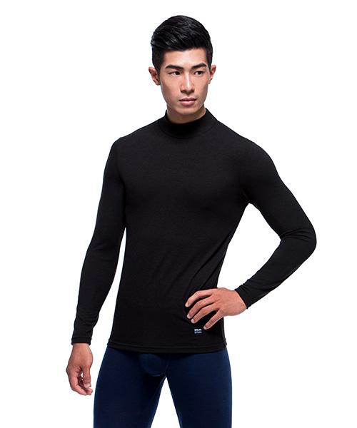 3GunSitename-熾柔EX-真正發熱男保暖立領長袖衫