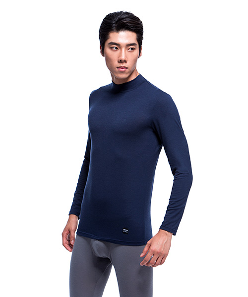 熾柔EX                           真正發熱男保暖立領長袖衫