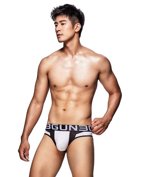網眼剪接男真快乾三角褲-炫色動感-3GUN |男性時尚內衣褲MIT品牌