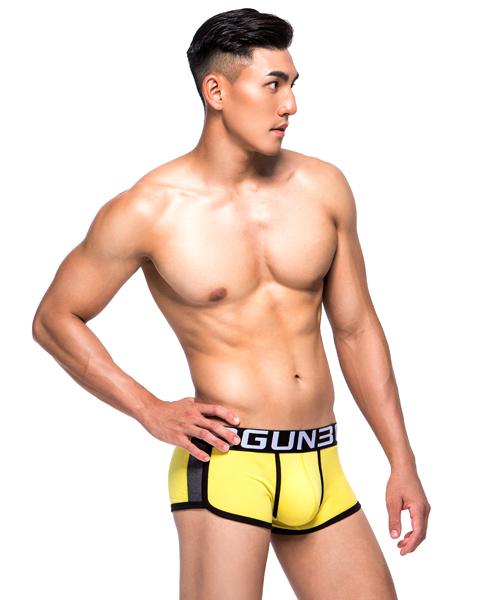 配色爬線男彈力棉平口褲-炫色動感-3GUN |男性時尚內衣褲MIT品牌