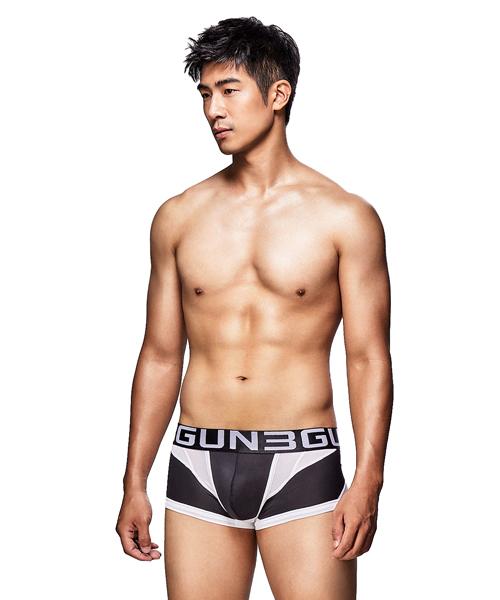 網眼剪接男真快乾平口褲-炫色動感-3GUN |男性時尚內衣褲MIT品牌