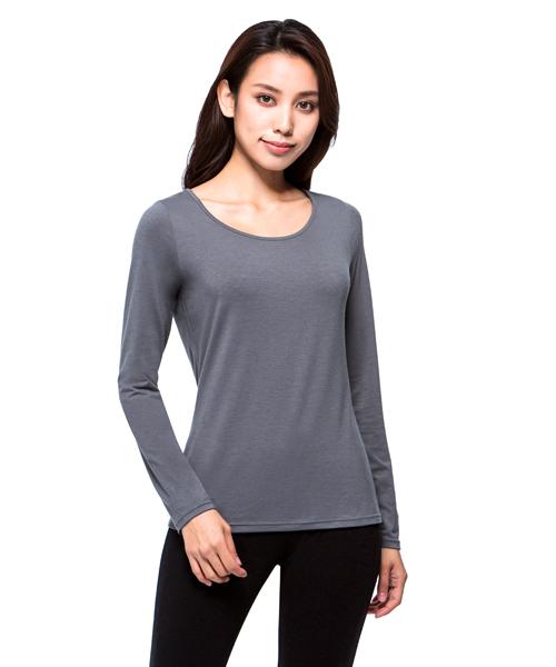 勁熱衣                            科技羊毛女保暖圓領長袖衫