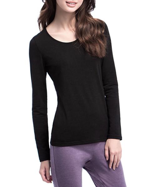 女圓領發熱長袖-熾柔-3GUN |男性時尚內衣褲MIT品牌