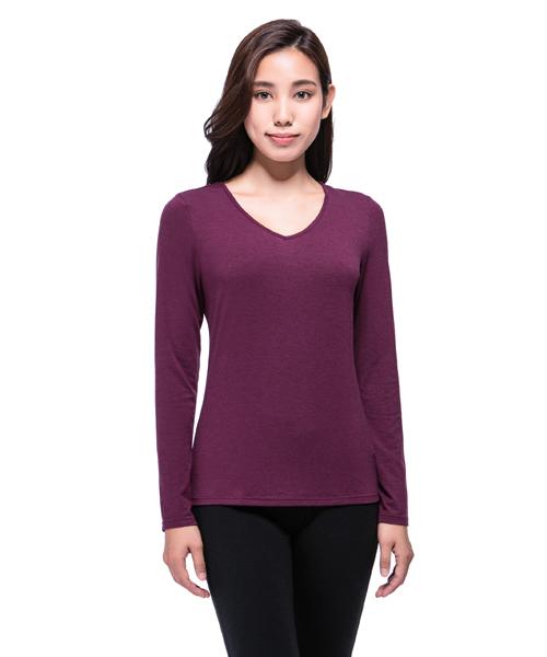 3GunSitename-熾柔EX-真正發熱女保暖V領長袖衫