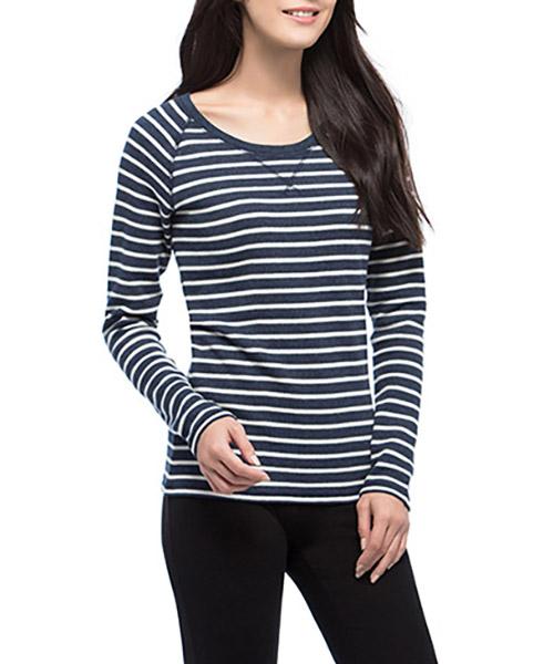 華夫格女圓領長袖衫-FREEWEAR-3GUN |男性時尚內衣褲MIT品牌