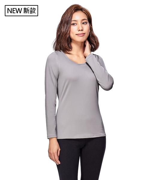 X熱力學女保暖大圓領長袖-熾柔X-3GUN |男性時尚內衣褲MIT品牌