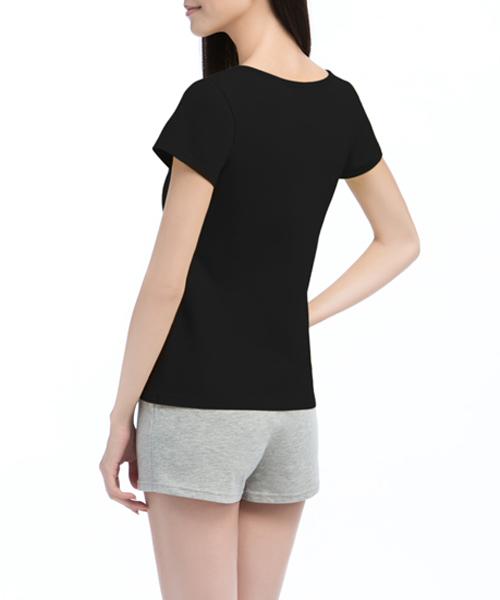 女圓領短袖-棉感-3GUN |男性時尚內衣褲MIT品牌