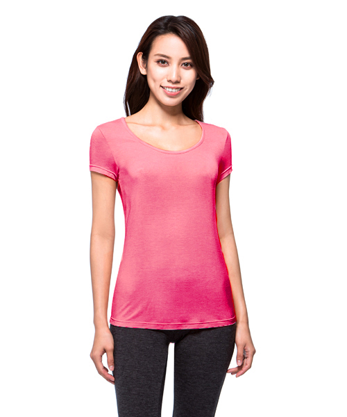 3GunSitename-勁熱衣-科技羊毛女保暖圓領短袖衫