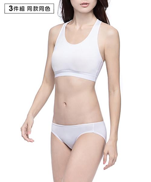 3GunSitename-QUEEN-超值3入吸排女低腰三角褲