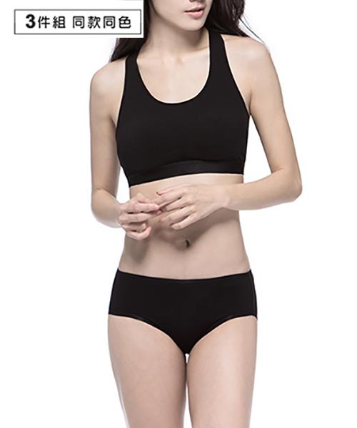 3GunSitename-QUEEN-超值3入極棉女中腰三角褲