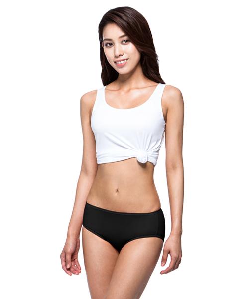 細柔輕涼天絲女中腰三角褲-QUEEN-3GUN |男性時尚內衣褲MIT品牌