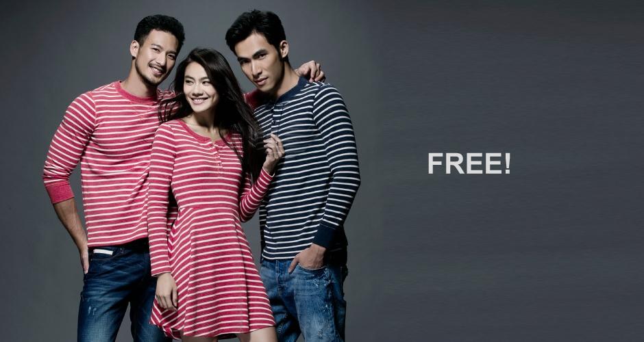 3GUN  男性時尚內衣褲MIT品牌-FREEWEAR-華夫格女亨利領長袖洋裝