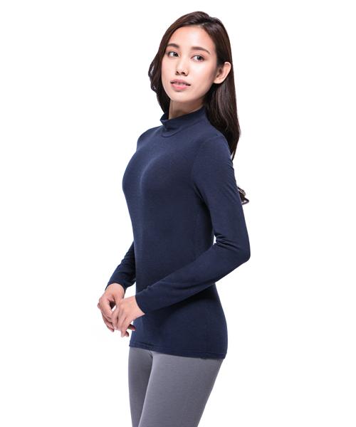熾柔EX                           真正發熱女保暖立領長袖衫