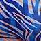 藍桔炫彩斑馬紋