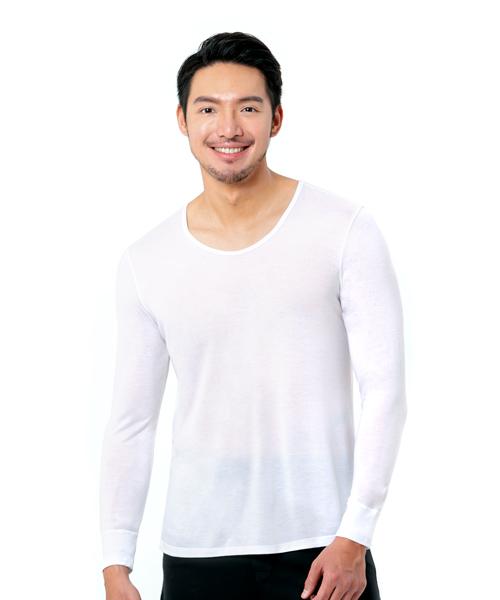 男U領長袖衫-御金絲-3GUN |男性時尚內衣褲MIT品牌
