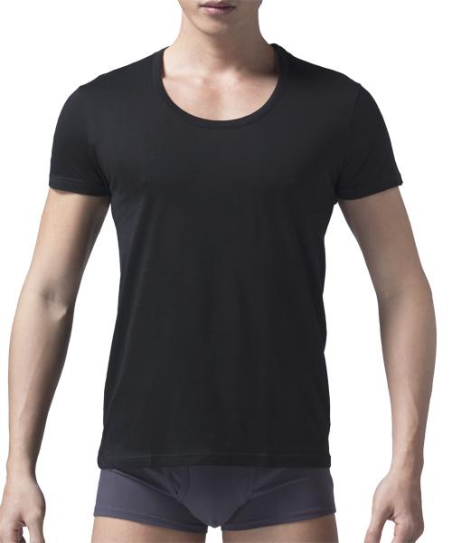 男U領短袖衫-長絨棉-3GUN |男性時尚內衣褲MIT品牌