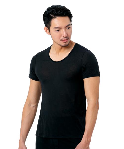 男U領短袖衫-御金絲-3GUN |男性時尚內衣褲MIT品牌