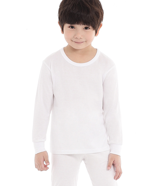 男童圓領長袖衫-金絲棉系列-3GUN |男性時尚內衣褲MIT品牌