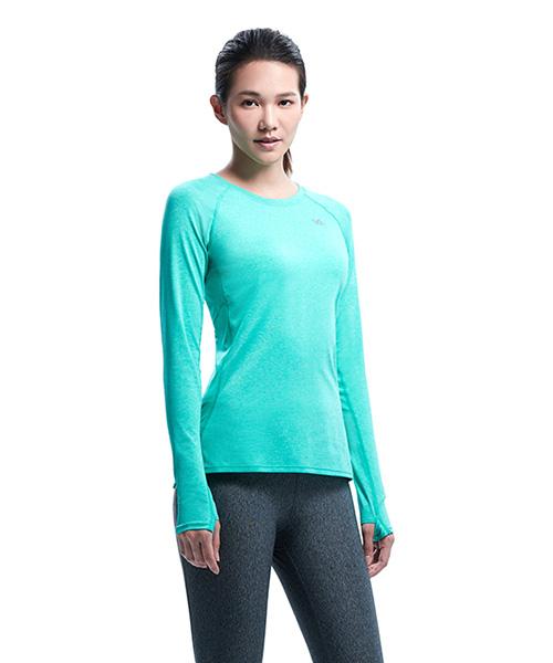YA系列-排汗密碼                      女剪接圓領長袖衫