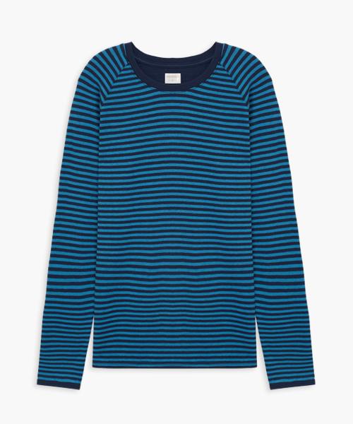 3GunSitename-自由空間-雙層棉-女圓領長袖衫