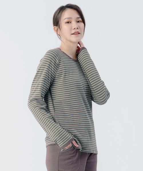 蓬鬆棉柔女圓領長袖衫-自由空間-雙層棉-3GUN |男性時尚內衣褲MIT品牌