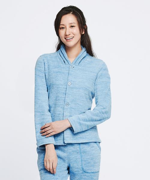 女刷絨開襟長袖衫-自由空間-FLEECE-3GUN |男性時尚內衣褲MIT品牌