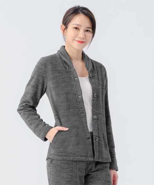 超細刷絨女口袋全開襟衫-自由空間-FLEECE-3GUN  男性時尚內衣褲MIT品牌