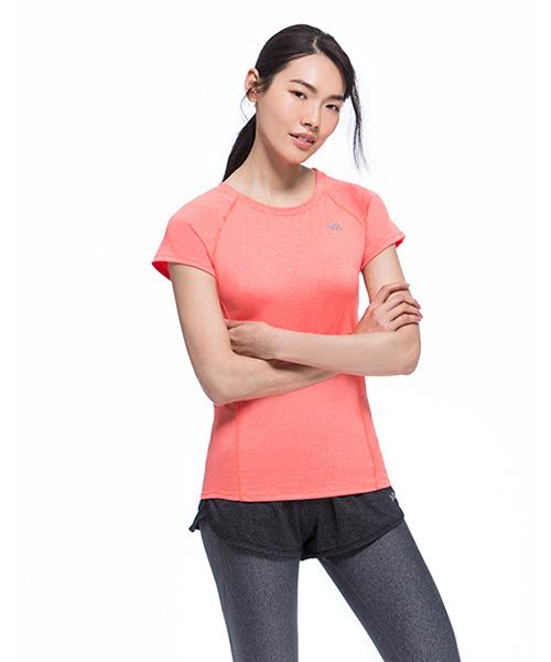 YA系列-排汗密碼                      女運動圓領短袖衫