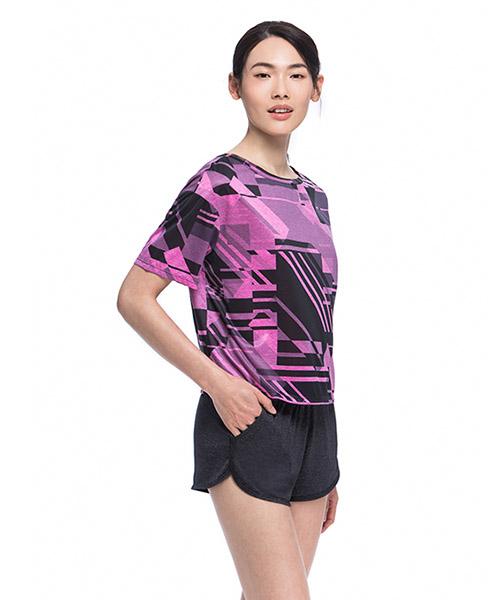 YA系列-享動時尚                      女印花圓領短袖衫
