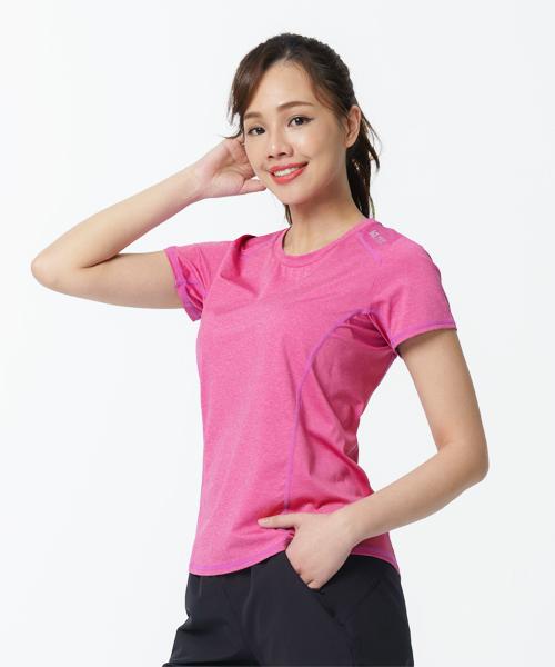專利吸排女降溫鋁點短袖衫-YA系列-排汗密碼-3GUN  男性時尚內衣褲MIT品牌