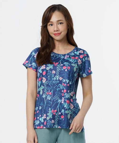 專利吸排女圓領短袖衫-旅行系列-印花-3GUN  男性時尚內衣褲MIT品牌
