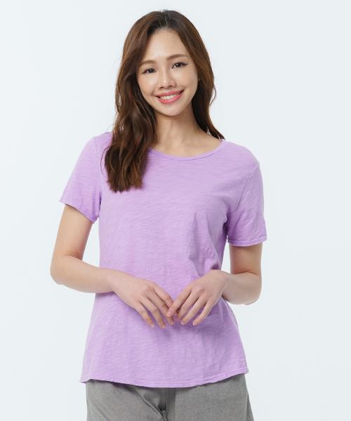 竹節棉女隨性圓領短袖衫-自由空間-FLOWING-3GUN |男性時尚內衣褲MIT品牌