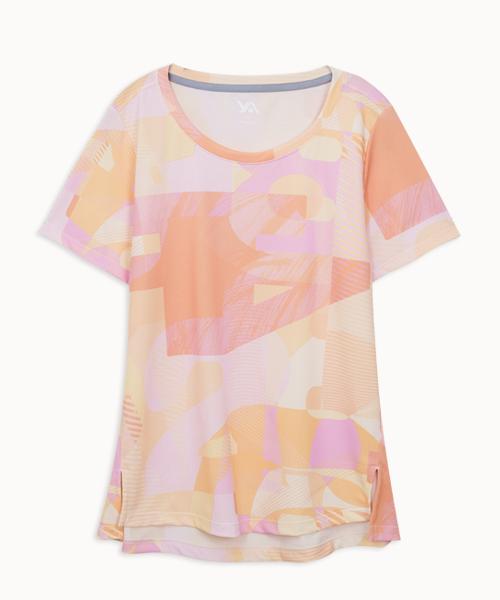專利吸排女印花圓領連袖衫-YA系列-享動時尚-3GUN  男性時尚內衣褲MIT品牌