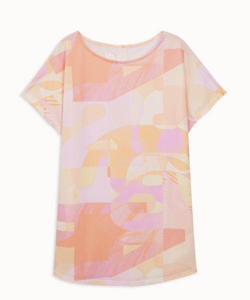 專利吸排女印花船領連袖衫-YA系列-享動時尚-3GUN  男性時尚內衣褲MIT品牌