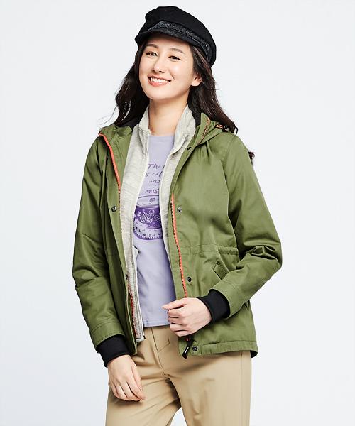 超撥水棉女防風連帽外套-都會休閒-外套-3GUN |男性時尚內衣褲MIT品牌