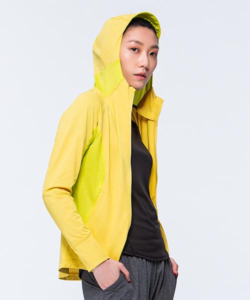 防曬網眼女收納式連帽外套-YA系列-享動時尚-3GUN |男性時尚內衣褲MIT品牌