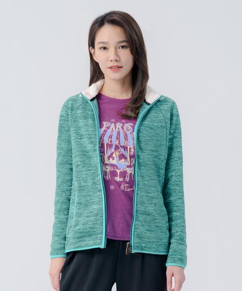 超細刷絨女FLEECE立領外套-輕戶外休閒-外套-3GUN |男性時尚內衣褲MIT品牌