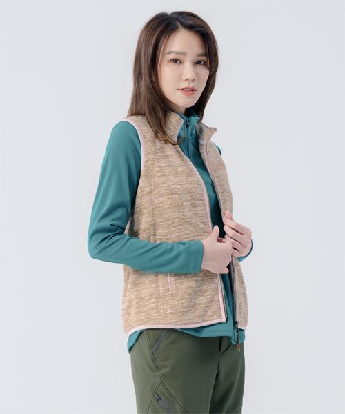 超細刷絨女FLEECE立領背心-輕戶外休閒-背心-3GUN |男性時尚內衣褲MIT品牌