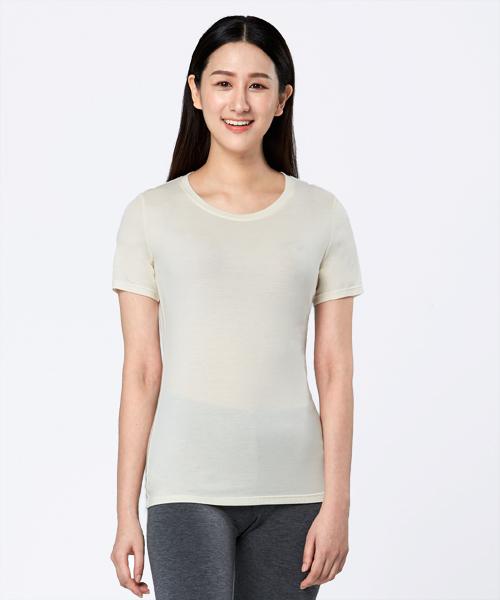 女圓領短袖衫-HEATPLUS-3GUN |男性時尚內衣褲MIT品牌