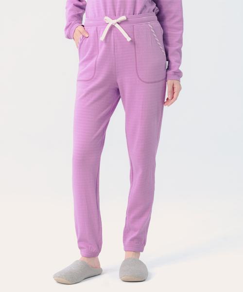 蓬鬆棉柔女束口長褲-自由空間-雙層棉-3GUN |男性時尚內衣褲MIT品牌