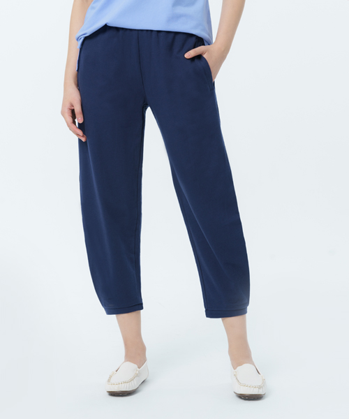 柔軟棉織女繭型收褶八分褲-自由空間-魚鱗布-3GUN |男性時尚內衣褲MIT品牌
