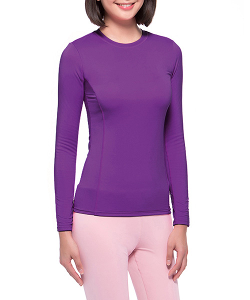 旅行系列-3級                        女雙層圓領長袖衫