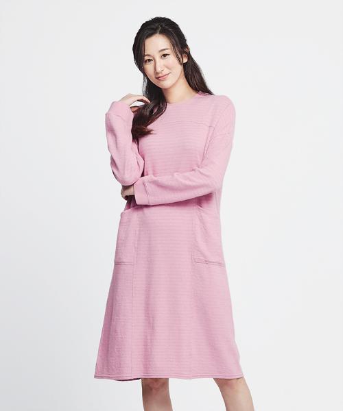 3GunSitename-自由空間-雙層棉-女條紋剪接洋裝