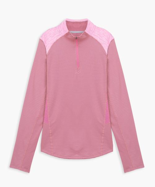 熱循環女拉鍊立領長袖衫-YA系列-排汗密碼-3GUN |男性時尚內衣褲MIT品牌