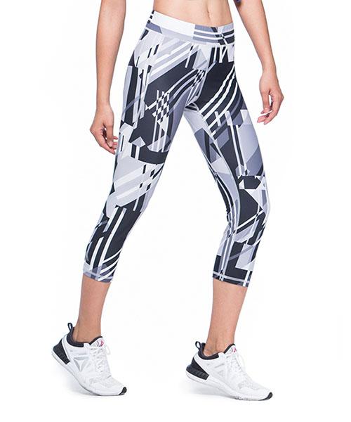 YA系列-排汗密碼                      女印花七分貼腿褲